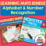 Learning Mats Bundle - Alphabet and Number Recognition