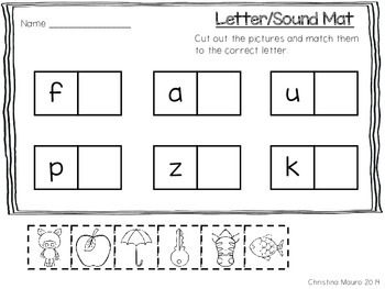 Letter/Sound Learning Mats