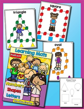 Learning Mats - Numbers Letters Shapes