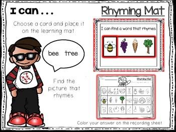 Rhyming Learning Mats