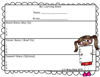 Task Cards for Daily Center Rotations