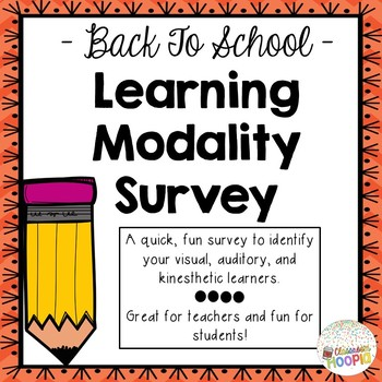 Learning Modality Survey