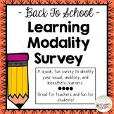 Back to School Learning Modality Survey