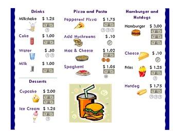 Learning Money : Play Restaurant