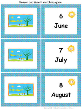 Learning Seasons Unit - Spring, Summer, Winter and Fall