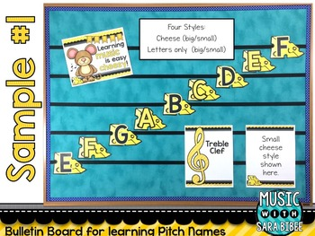 Learning Music is Easy Cheesy! Bulletin Board Set: Pitches