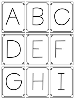 Learning My Letters - Alphabet Activities