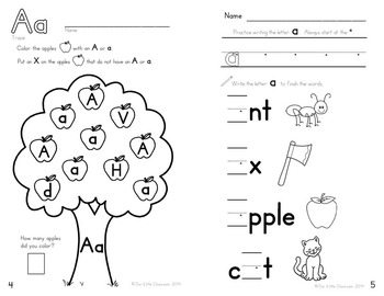 Alphabet Activities:  Learning My Letters {BUNDLE}