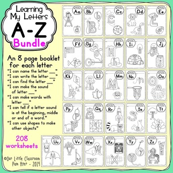 Alphabet Activities:  Learning My Letters {BUNDLE}
