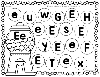 Learning My Letters E