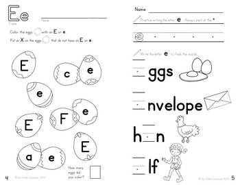 Alphabet Activities: Learning My Letters [Ee]