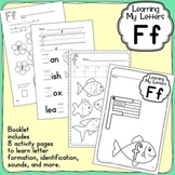 Alphabet Activities: Learning My Letters [Ff]