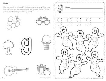 Alphabet Activities: Learning My Letters [Gg]