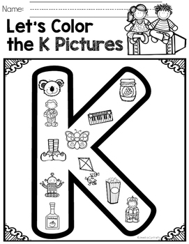 Learning My Letters K