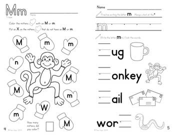 Alphabet Activities: Learning My Letters [Mm]