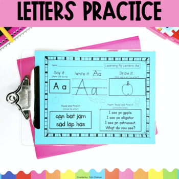 Letters Practice Pack