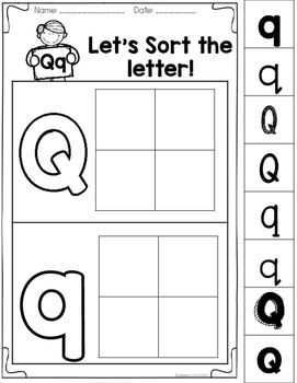 Learning My Letters Q