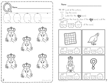 Alphabet Activities: Learning My Letters [Qq]