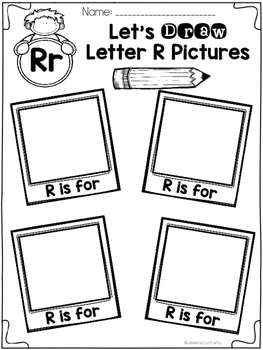 Learning My Letters R