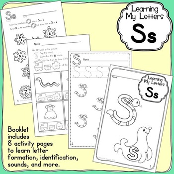 Alphabet Activities: Learning My Letters [Ss]