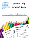 Learning My... Tracing Sheets Sample Pack
