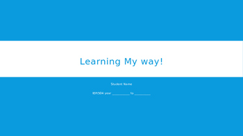 Learning My Way! Power Point Template Freebie
