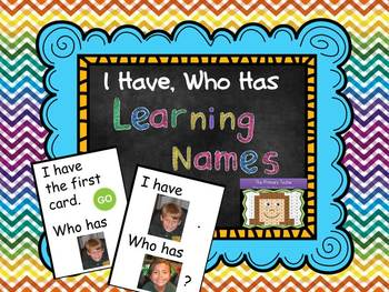 Learning Names I Have, Who Has