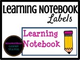 Learning Notebook Labels