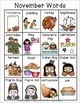 Learning November Words K-4