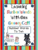 Learning Number Words With One Groovy Cat {1 ~ 10} - 10 Math Centers