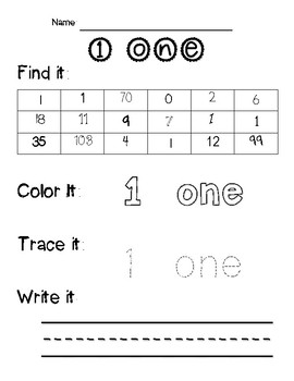 Learning Numbers 0-100 (Number Identification and Writing)