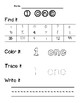 Learning Numbers 0-20 (Number Identification and Writing) FREEBIE!