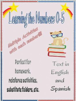 Learning Numbers 0-5 Booklets in English and Spanish