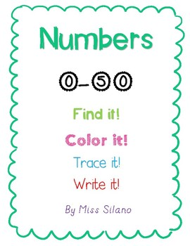 Learning Numbers 0-50 (Number Identification and Writing)