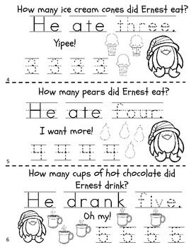 Learning Numbers 1-10 Christmas Number Book