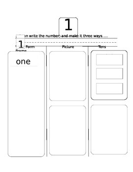 Learning Numbers 1-10 Workbook