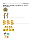 Learning Numbers 1-10 in Chronological Order: Worksheet with Answer Key
