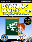 Learning Numbers 1-12 Integrated Morning Worksheets