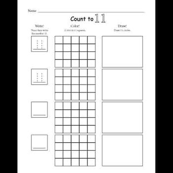 Learning Numbers 1 - 20 Activities