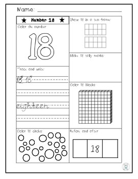 Learning Numbers 11-20