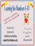 Numbers -Learning Numbers 6-10 English and Spanish