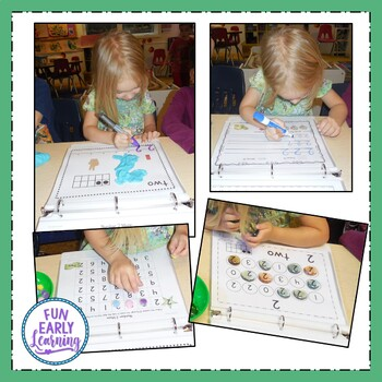 Learning Numbers Hands-on Activities Binder
