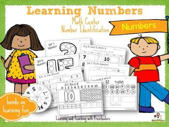 Learning Numbers Math Center