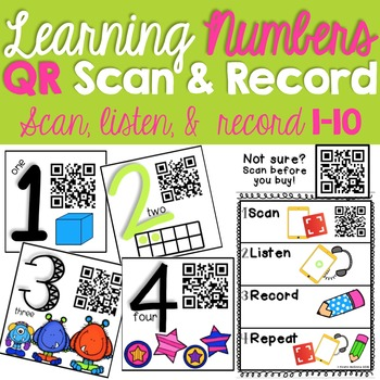 Learning Numbers QR Scan & Record 1-10