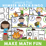Learning Numbers to 10 Math Center Camping Theme