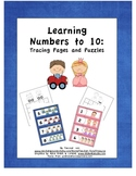 Learning Numbers to 10:  Tracing Pages and Puzzles