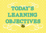 Learning Objective Display Busy Bee Theme 9 Curriculum Areas Included!
