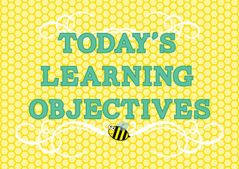 Learning Objective Display Busy Bee Theme 9 Curriculum Are