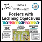 Learning Objective Posters - Focus Wall - Wonders McGraw H