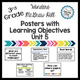 Learning Objective Posters - Focus Wall - Wonders McGraw Hill 3rd Grade Unit 5
